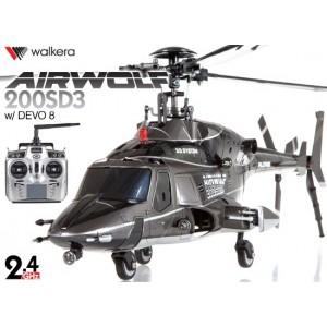 AIRWOLF-200SD3 - Airwolf 200SD3 6CH Multiblades Metal Upgrade Helicopter w/ DEVO 8 Transmitter
