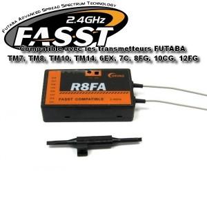 Récepteur compatible futaba 2 4 ghz fasst