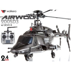 AIRWOLF-200SD3 - Airwolf 200SD3 6CH Multiblades Metal Upgrade Helicopter w/ DEVO 8 Transmitter