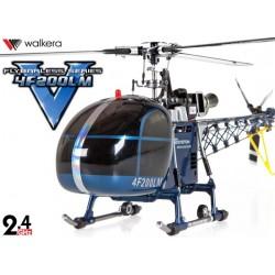 HM4F200LM-DEV7 - Walkera Flybarless tri-pales 3-Axes Gyro Système 6 CH Aluminum Edition RTF - DEVO7 2.4GHz
