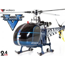 HM4F200LM - Walkera Flybarless tri-pales 3-Axes Gyro Système 6 CH Aluminum Edition RTF - 2.4GHz