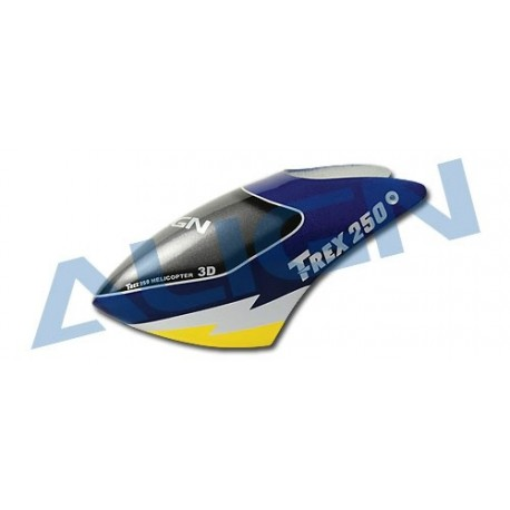 HC2003T - Bulle fibre peinte bleu - T-rex 250