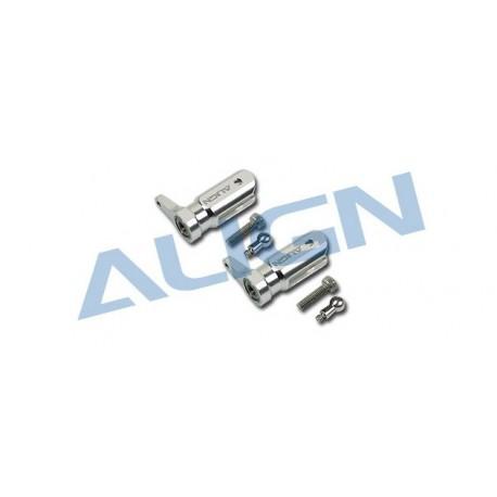H25003AF - Metal Main Rotor Holder Set/Silver